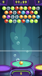 Screenshot 2: Spooky Bubble Shooter