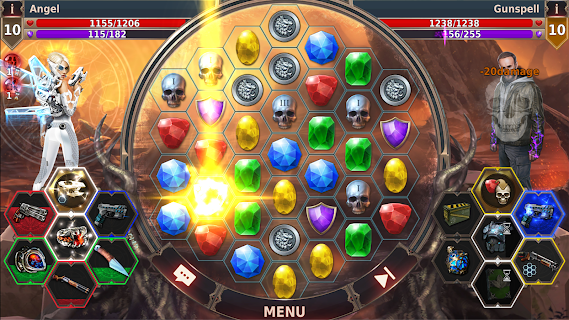 Screenshot 2: Gunspell 2 - Puzzle Battles