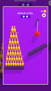 Screenshot 4: Line Cut Bowling